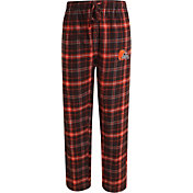 Concepts Sport Men's Cleveland Browns Ultimate Flannel Brown Pants