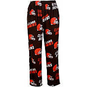 Concepts Sports Mens's Cleveland Browns Brown Wildcard Fleece Pants