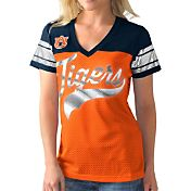 G-III For Her Women's Auburn Tigers Orange/Blue Pass Rush T-Shirt
