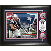 The Highland Mint New England Patriots Rob Gronkowski Framed Silver Coin Photo Mint