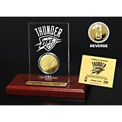 The Highland Mint Oklahoma City Thunder Gold Coin Etched Acrylic
