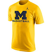 Jordan Men's Michigan Wolverines Maize University Basketball T-Shirt