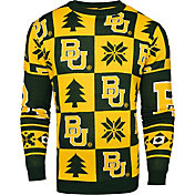 Klew Men's Baylor Bears Green Ugly Sweater