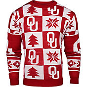 Klew Men's Oklahoma Sooners Crimson Ugly Sweater