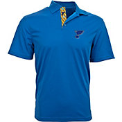 Levelwear Men's St. Louis Blues Royal Skate Lace Omaha Polo