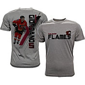 Levelwear Men's Calgary Flames Mark Giordano #5 Grey Spectrum T-Shirt