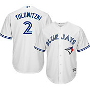 Majestic Men's Replica Toronto Blue Jays Troy Tulowitzki #2 Cool Base Home White Jersey
