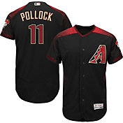 Majestic Men's Authentic Arizona Diamondbacks A.J. Pollock #11 Alternate Black Flex Base On-Field Jersey