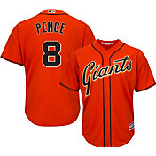 Majestic Men's Replica San Francisco Giants Hunter Pence #8 Cool Base Alternate Orange Jersey