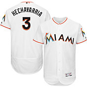 Majestic Men's Authentic Miami Marlins Adeiny Hechavarria #3 Home White Flex Base On-Field Jersey