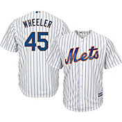Majestic Men's Replica New York Mets Zack Wheeler #45 Cool Base Home White Jersey