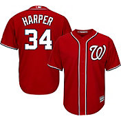 Majestic Men's Replica Washington Nationals Bryce Harper #34 Cool Base Alternate Red Jersey
