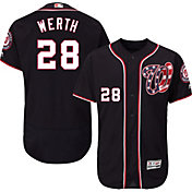 Majestic Men's Authentic Washington Nationals Jayson Werth #28 Alternate Navy Flex Base On-Field Jersey