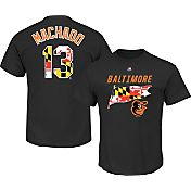 Majestic Men's Baltimore Orioles Manny Machado #13 Black State Flag T-Shirt
