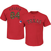 Majestic Men's Texas Rangers Prince Fielder #84 Memorial Day Red T-Shirt