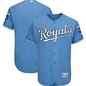 Majestic Men's Authentic Kansas City Royals Alternate Light Blue Flex Base On-Field Jersey