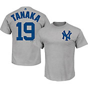 Majestic Men's New York Yankees Masahiro Tanaka #19 Grey T-Shirt