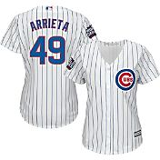 Majestic Women's 2016 World Series Replica Chicago Cubs Jake Arrieta #49 Cool Base Home White Jersey