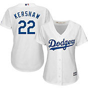 Majestic Women's Replica Los Angeles Dodgers Clayton Kershaw #22 Cool Base Home White Jersey