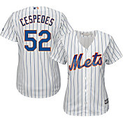 Majestic Women's Replica New York Mets Yoenis Cespedes #52 Cool Base Home White Jersey