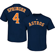 Majestic Youth Houston Astros George Springer #4 Navy T-Shirt