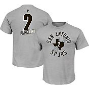 Majestic Youth San Antonio Spurs Kawhi Leonard #2 Grey T-Shirt