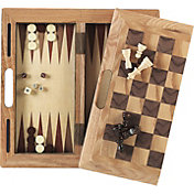 Mainstreet Classics 3-in-1 Chess Checkers and Backgammon Game Set