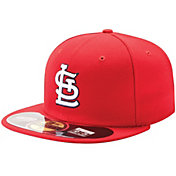 New Era Men's St. Louis Cardinals 59Fifty Game Red Authentic Hat
