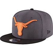 New Era Men's Texas Longhorns Heather Grey Basic Snap 9FIFTY Hat