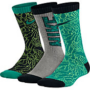 Nike Boys' Graphic Cotton Cushion Crew Socks 3 Pack