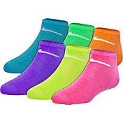 Nike Girls' Color Low Cut Socks 6 Pack