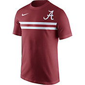 Nike Men's Alabama Crimson Tide Crimson Team Stripe Football T-Shirt