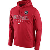 Nike Men's Georgia Bulldogs Red Circuit Performance Football Hoodie