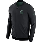 Nike Men's Michigan State Spartans Showtime Dry Basketball Black Jacket
