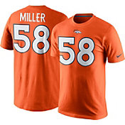 Nike Men's Denver Broncos Von Miller #58 Pride Orange T-Shirt