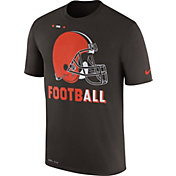 Nike Men's Cleveland Browns Sideline 2017 Legend Football Performance Brown T-Shirt