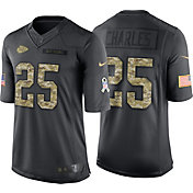 Nike Men's Home Limited Jersey Kansas City Chiefs Jamaal Charles #25 Salute to Service 2016