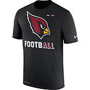 Nike Men's Arizona Cardinals Sideline 2017 Legend Football Performance Black T-Shirt