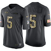 Nike Men's Home Limited Jersey Baltimore Ravens Joe Flacco #5 Salute to Service 2016