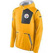 Nike Men's Pittsburgh Steelers Sideline 2016 Alpha Fly Rush Gold Jacket