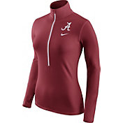 Nike Women's Alabama Crimson Tide Crimson Pro Hyperwarm Half-Zip Shirt