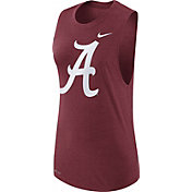 Nike Women's Alabama Crimson Tide Crimson Logo Muscle Performance Tank Top
