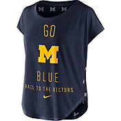 Nike Women's Michigan Wolverines Blue Gameday Signal Tri-Blend T-Shirt