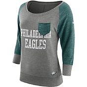 Nike Women's Philadelphia Eagles Tailgate Vintage Crew Grey Long Sleeve Shirt
