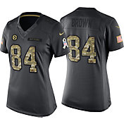 Nike Women's Home Game Jersey Pittsburgh Steelers Antonio Brown #84 Salute to Service 2016