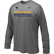 Nike Youth West Virginia Mountaineers Anthracite Staff Sideline Long Sleeve Shirt