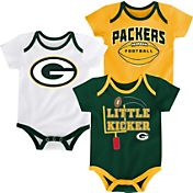 NFL Team Apparel Infant Green Bay Packers 3-Pack Creeper Set