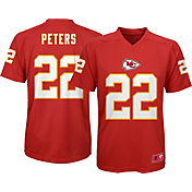 NFL Team Apparel Youth Kansas City Chiefs Marcus Peters # Red T-Shirt