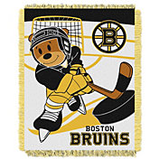 Northwest Boston Bruins Score Baby 36 in x 46 in Jacquard Woven Throw Blanket
