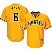 Majestic Youth Replica Pittsburgh Pirates Starling Marte #6 Cool Base Alternate Gold Jersey